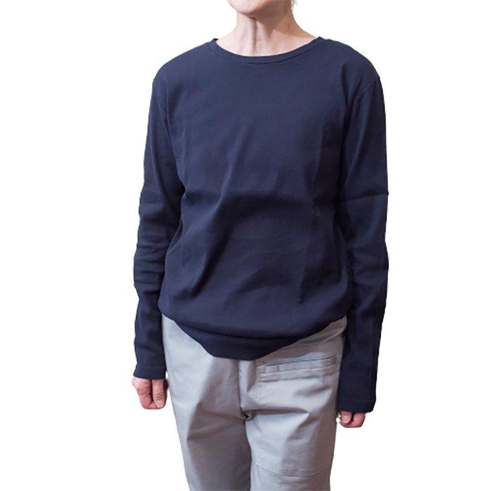 アンティパスト ビワコットン長袖Tシャツ #ネイビー