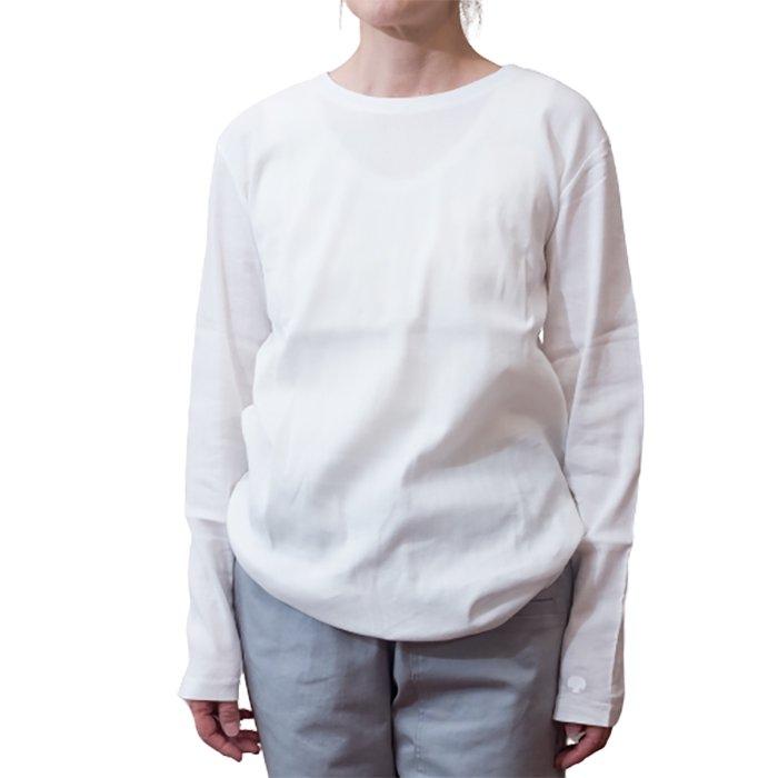アンティパスト ビワコットン長袖Tシャツ #ホワイト
