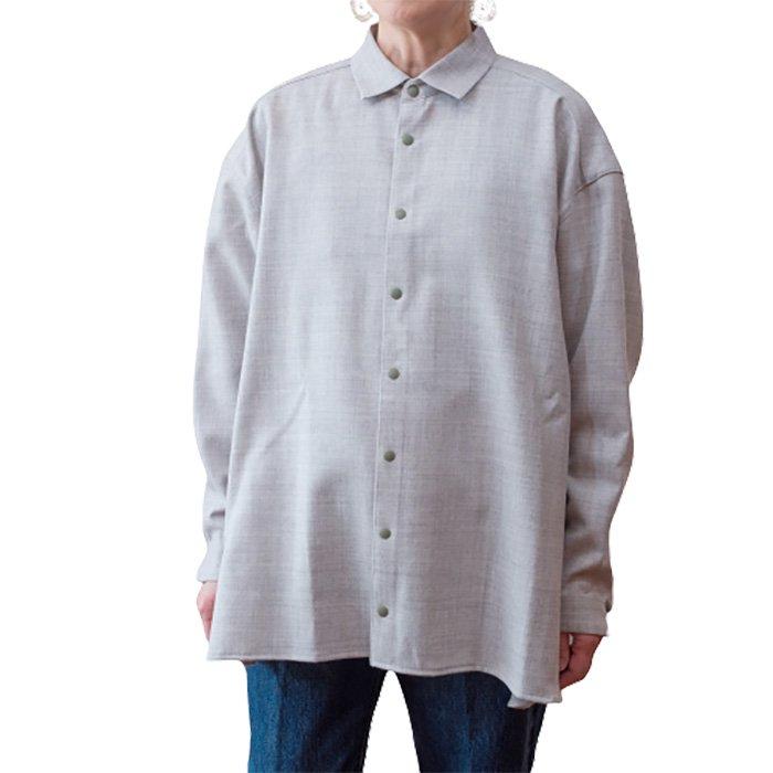 ippei takei [イッペイタケイ] Big shirts #ライトグレー