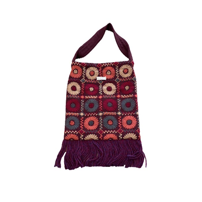 アンティパスト 刺繍スモールバッグ#ワイン