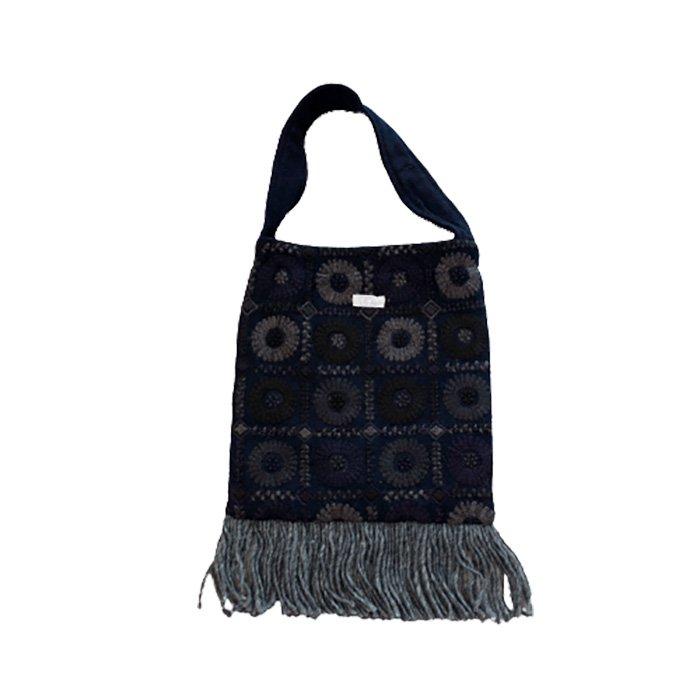 アンティパスト 刺繍スモールバッグ#ネイビー