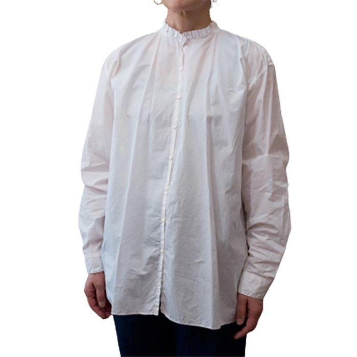 STASTNY SU [シュチャストニースー]タックカラーシャツ#ホワイト