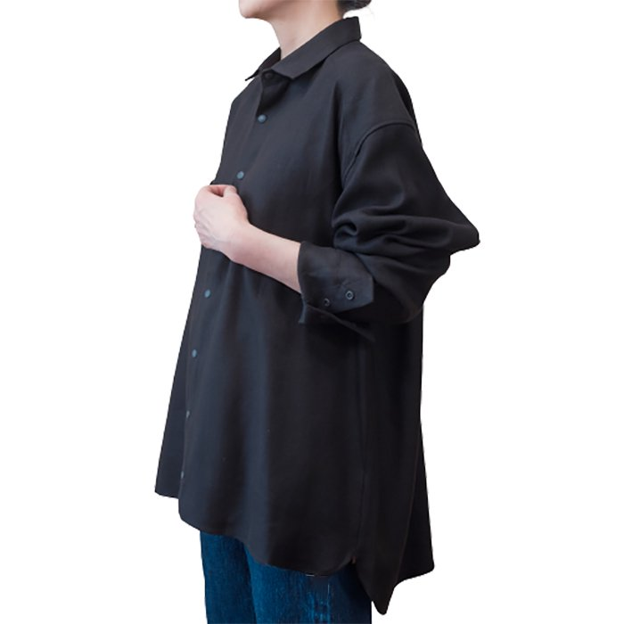 ippei takei [イッペイタケイ] Big shirts #black linen