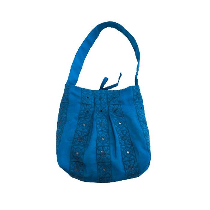 アンティパスト 刺繍バッグ#ターコイス