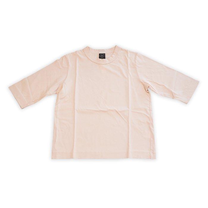 Homspun 天竺6分袖Tシャツ #ピーチ