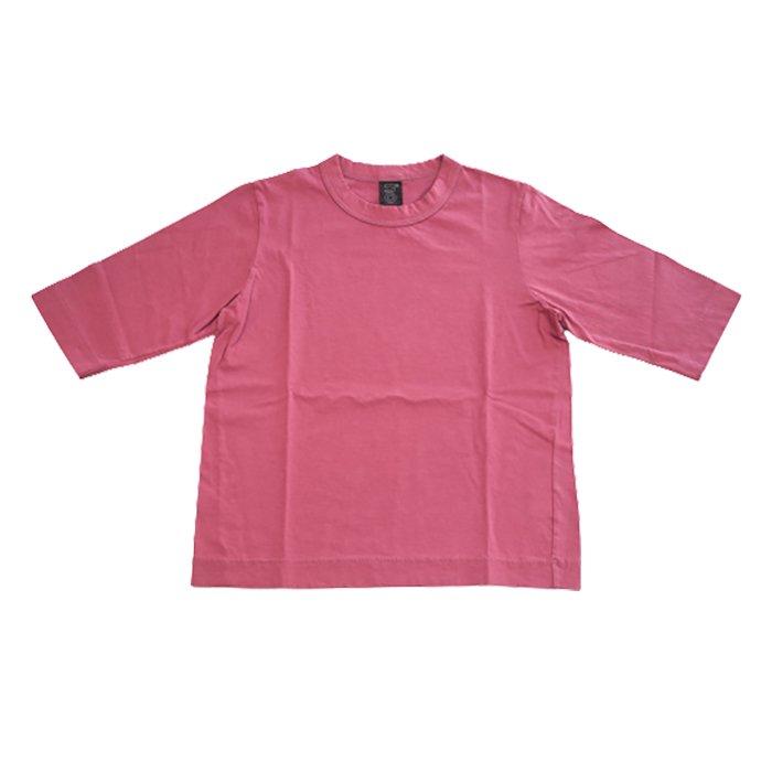 Homspun 天竺6分袖Tシャツ #ラズベリー