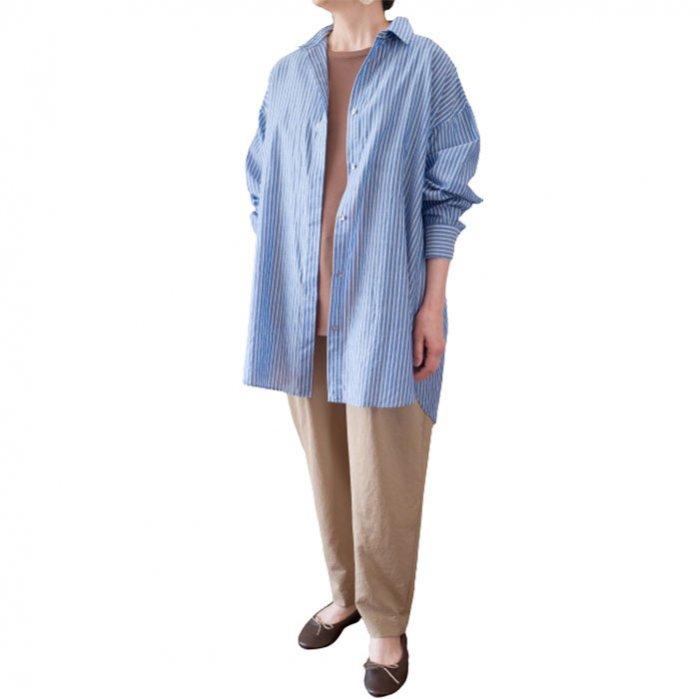 SIWALY | シワリー ストライプバックライニングシャツ(521201) #415 / stripeblue