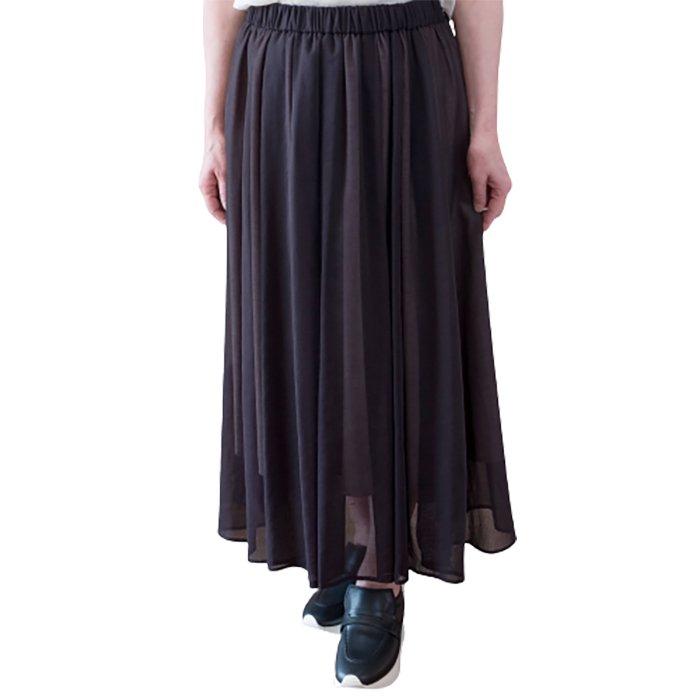 SIWALY | シワリー シアーギャザースカート#ブラック