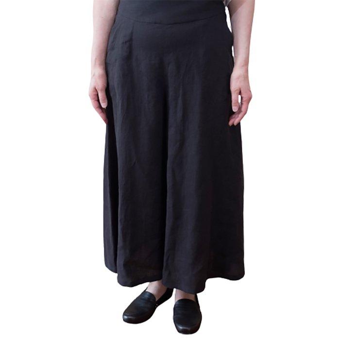 KOFTA  ビンテージリネンキャンバスキュロット型 パンツ #ブラック