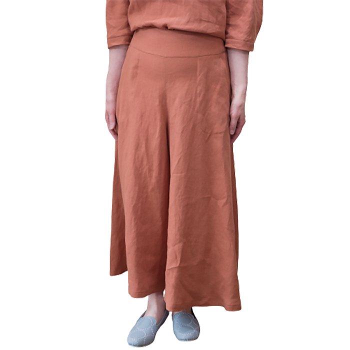 KOFTA  ビンテージリネンキャンバスキュロット型 パンツ #ダークオレンジ