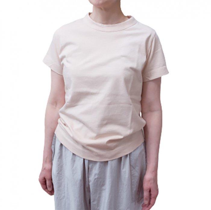 homspun 天竺半袖Tシャツ #ピーチ