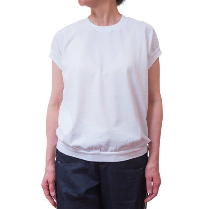 homspun 天竺キャップスリーブTシャツ #サラシ