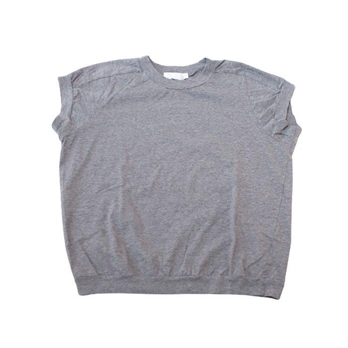 homspun 天竺キャップスリーブTシャツ #TOPグレー