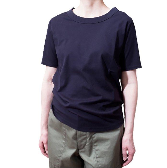 Le pivot / ル・ピボット  スムス半袖Tシャツ #ネイビー