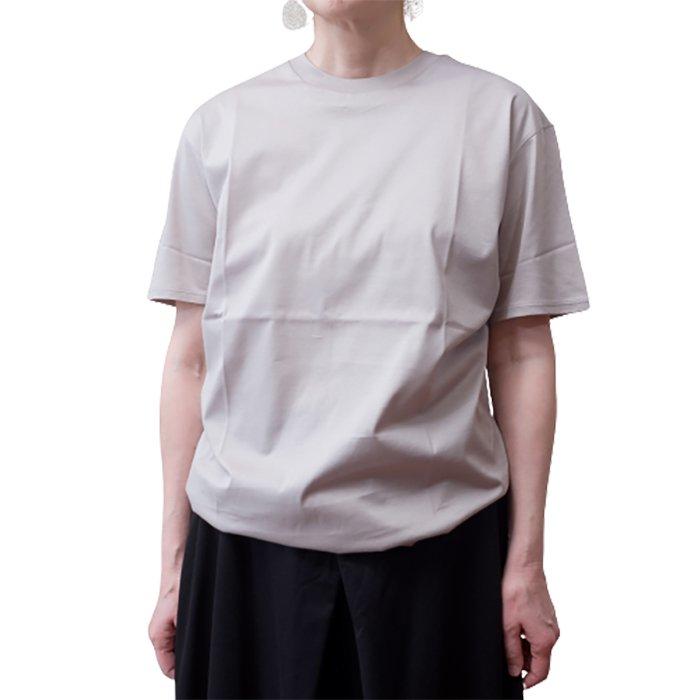 Le pivot / ル・ピボット  GIZA天竺クルーTシャツ #サンド