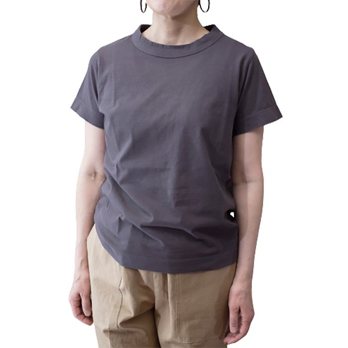 homspun 天竺半袖Tシャツ  #グレー