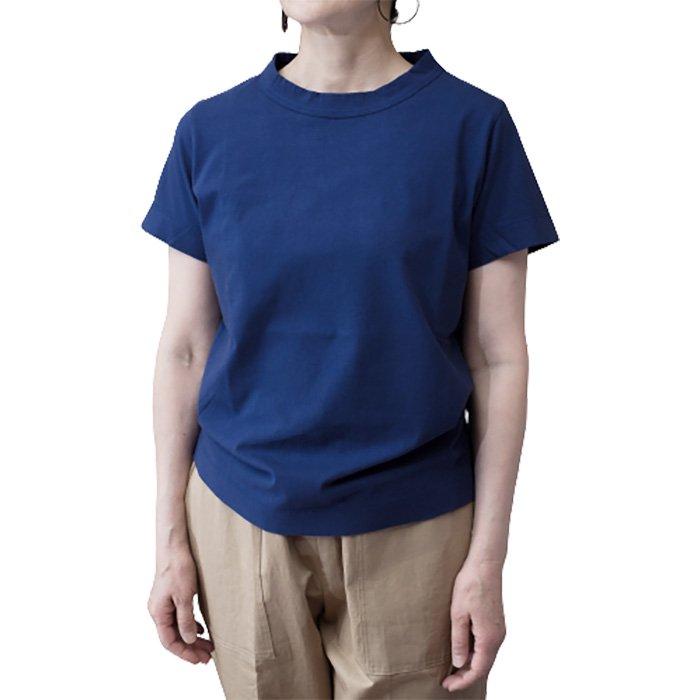 homspun 天竺半袖Tシャツ  #ダークブルー
