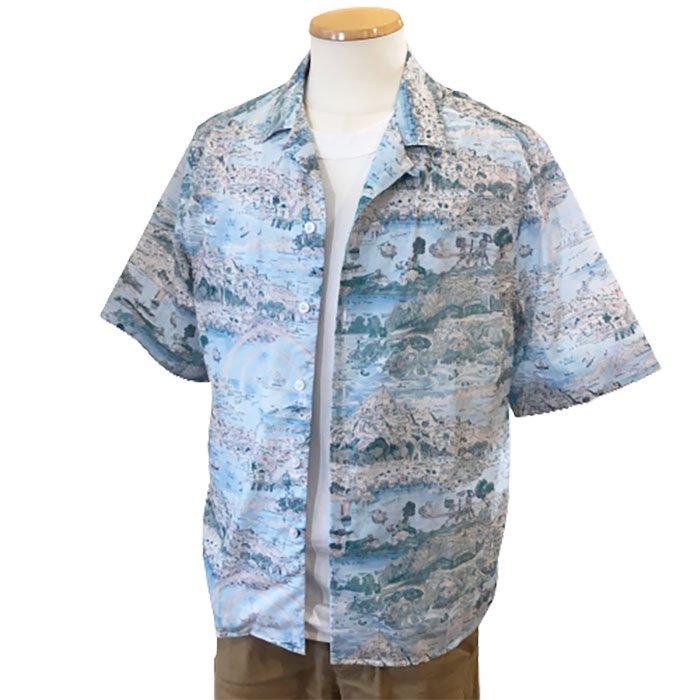 James Mortimer [ジェームスモルティマー]LIBERTYオープンカラーシャツ#Story Island-C