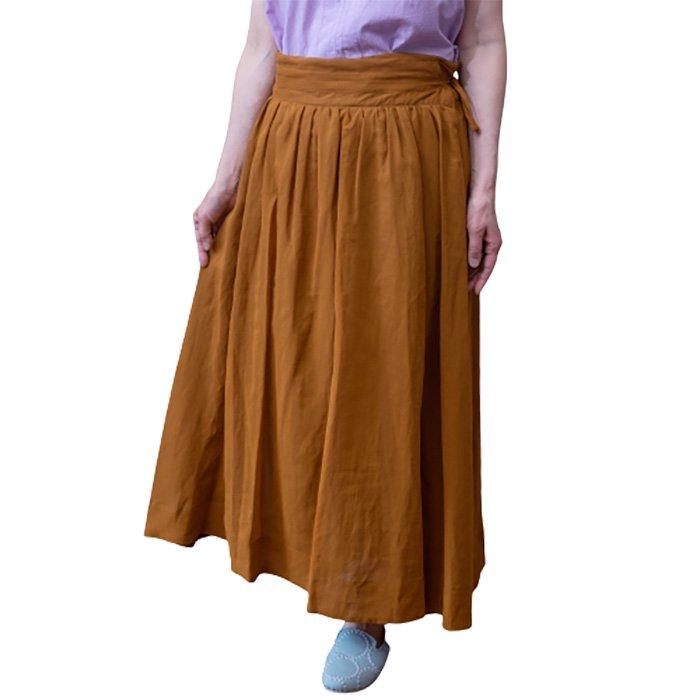 KOFTA  コットンボイル 巻き風スカート #ブリック