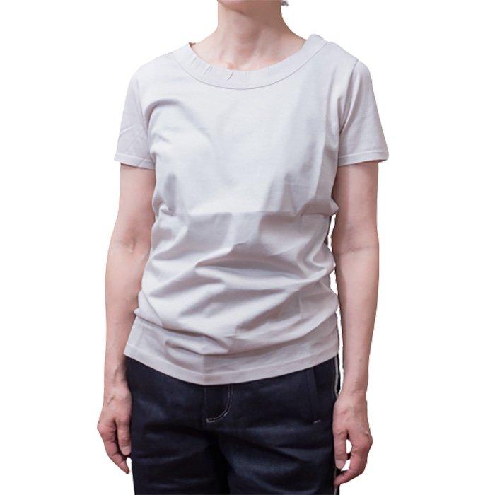 Le pivot / ル・ピボット シルケット天竺S/STシャツ #グレージュ