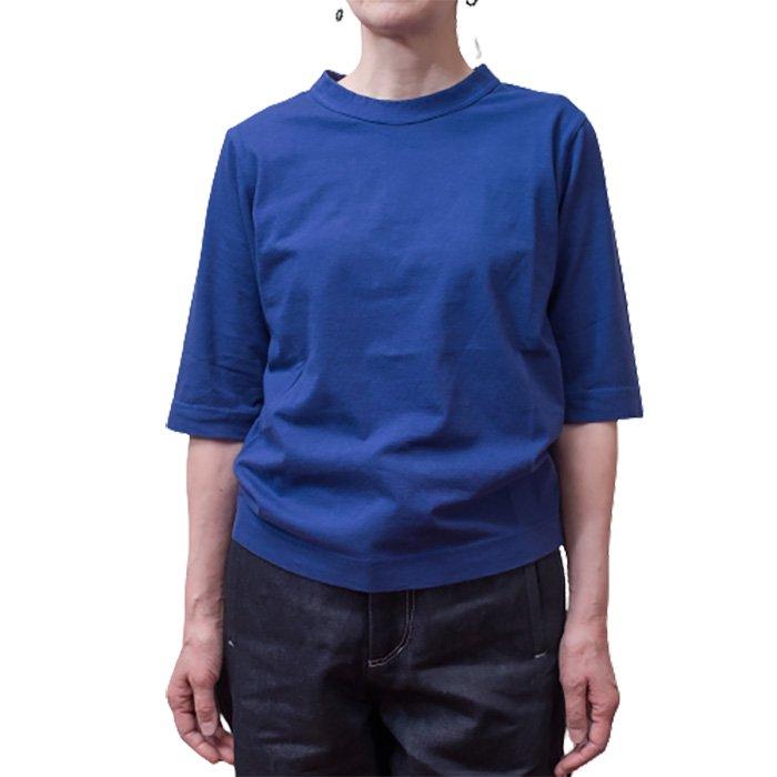 Homspun 天竺6分袖Tシャツ #ダークブルー