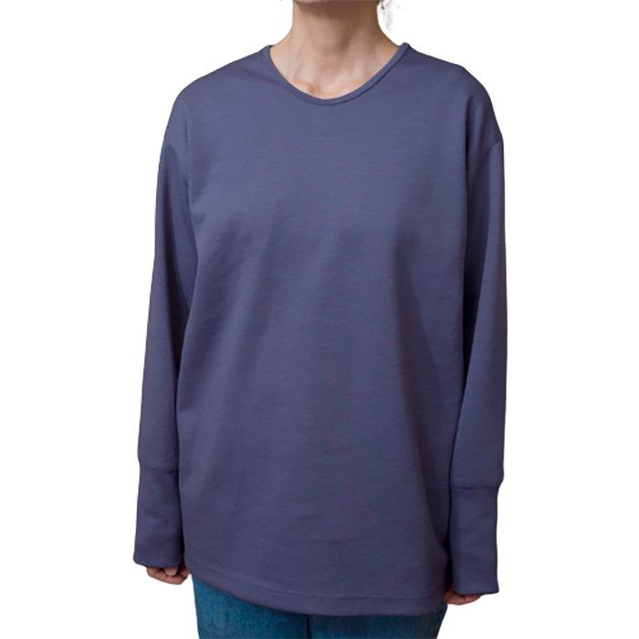 ippei takei(イッペイタケイ)rib long T shirts #ink blue