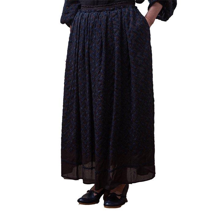 アンティパスト 刺繍スカート#ネイビー
