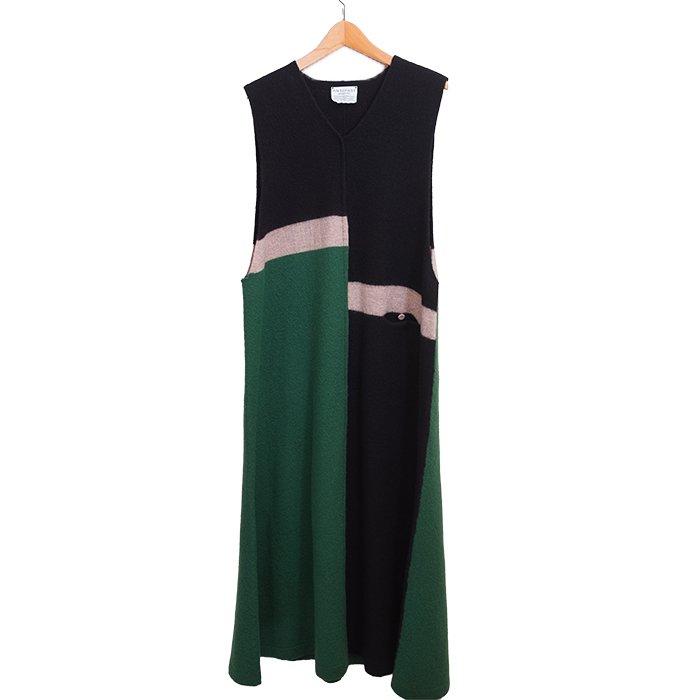 アンティパスト Felt Finish Knit Dress #グリーンミックス
