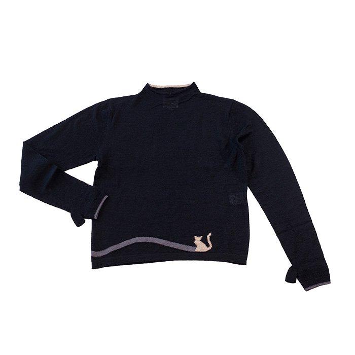 アンティパスト Jacquard Knit Pullover  #ブラック