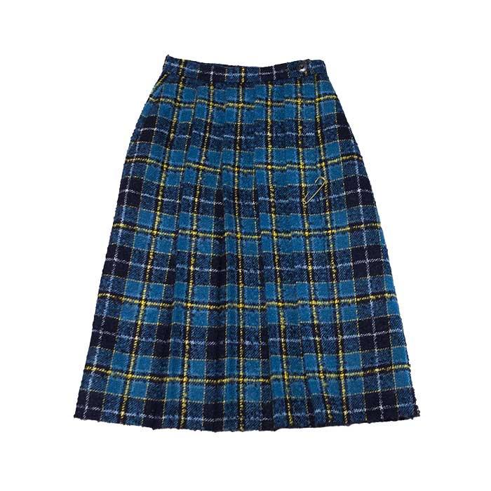 ミナペルホネン タータンキルトスカート #blue