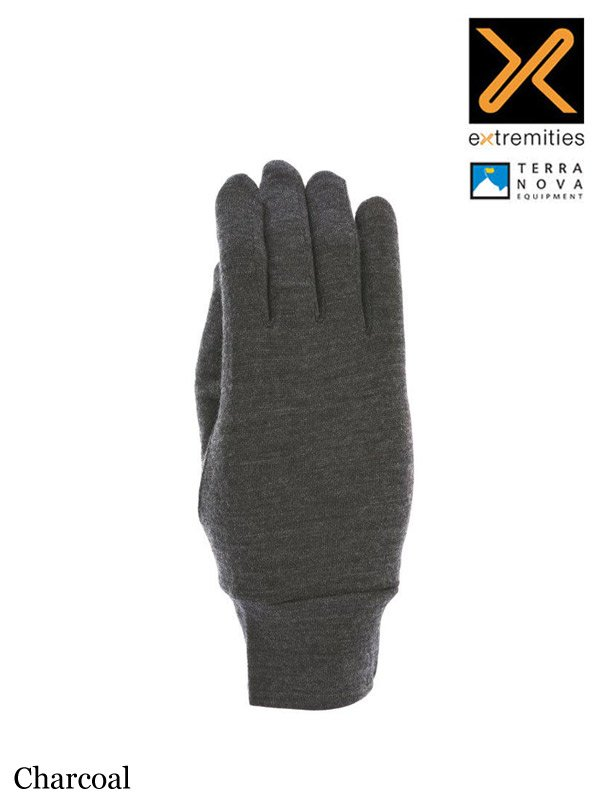 Merino Touch Liner Glove #Charcoal