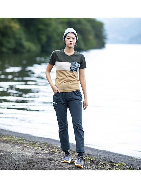 MMA 3tone Mountain Wool Pocket Tee #Green/Sand