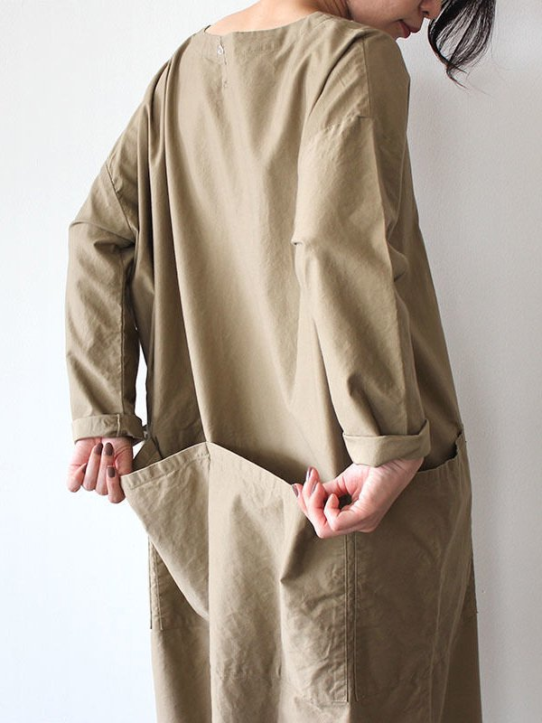 NAPRON|APRON SMOCK ONE PIECE #Beige<img class='new_mark_img2' src='https://img.shop-pro.jp/img/new/icons6.gif' style='border:none;display:inline;margin:0px;padding:0px;width:auto;' />
