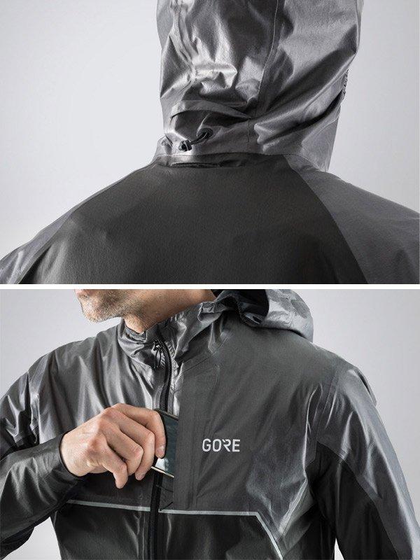 GORE-TEX SHAKEDRY Trail Hooded Jacket #ブラック/ラヴァグレイ