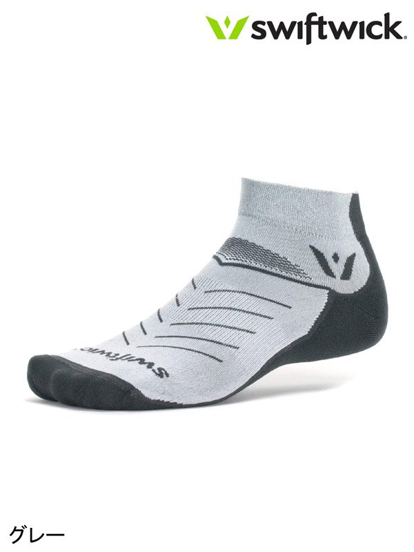 Swiftwick|Vibe One #グレー<img class='new_mark_img2' src='https://img.shop-pro.jp/img/new/icons6.gif' style='border:none;display:inline;margin:0px;padding:0px;width:auto;' />