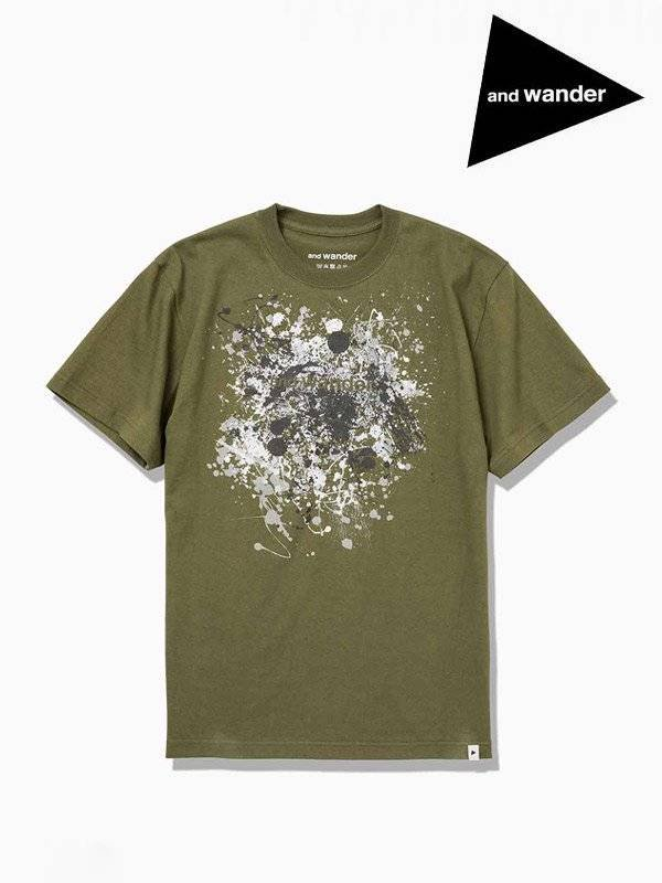 splatter print T #Khaki [AW93-JT083]