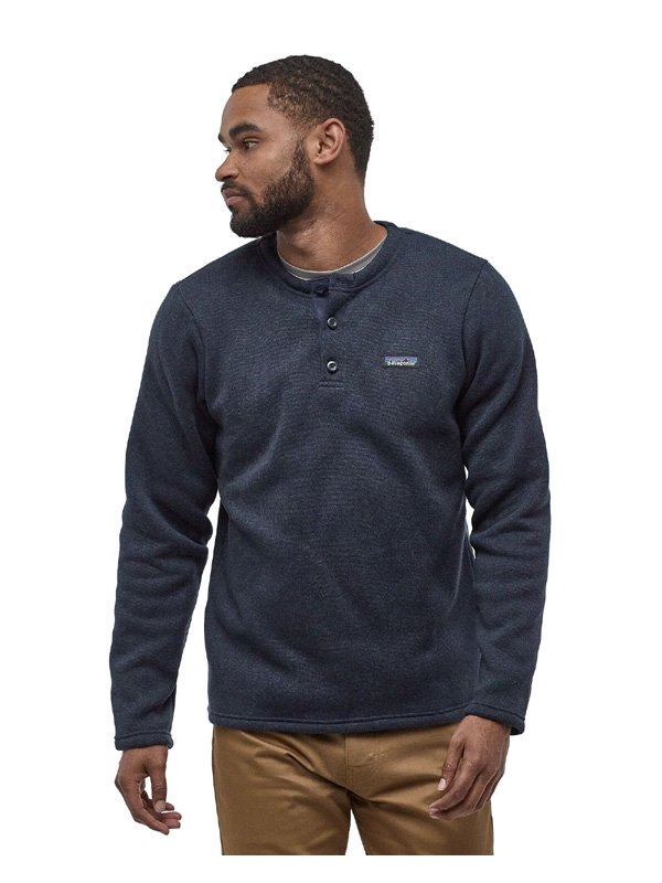 Men's Better Sweater Fleece Henley Pullover #NENA [25305]