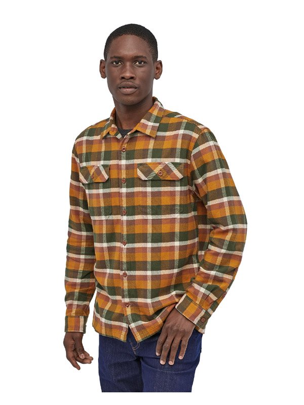 Men's Long Sleeved Fjord Flannel Shirt #OBWG [53947]