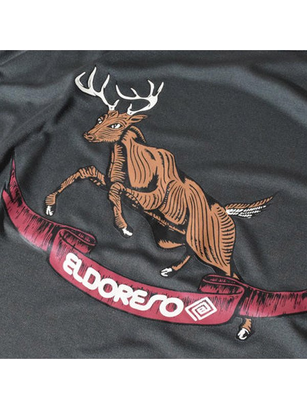 ELDORESO Deer Raglan T #Charcoal [E1003729]