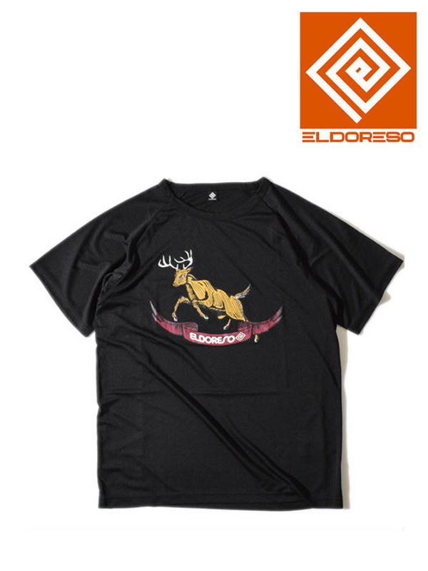 ELDORESO|Deer Raglan T #Black [E1003729]