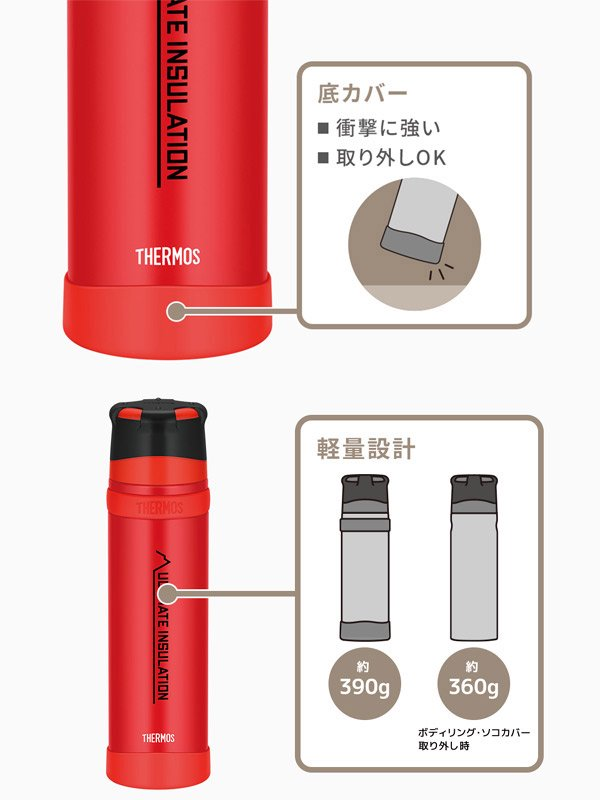 THERMOS|FFX-901 山専ボトル #マットレッド