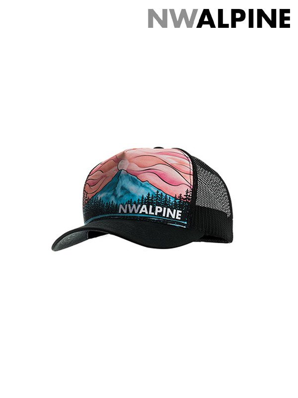 NW ALPINE|MOUNTAIN NIRVANA TRUCKER CAP #Black