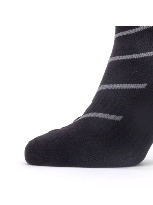 SEALSKINZ|Warm Weather Ankle Length Sock with Hydrostop #Black/Grey [11100056-0101]