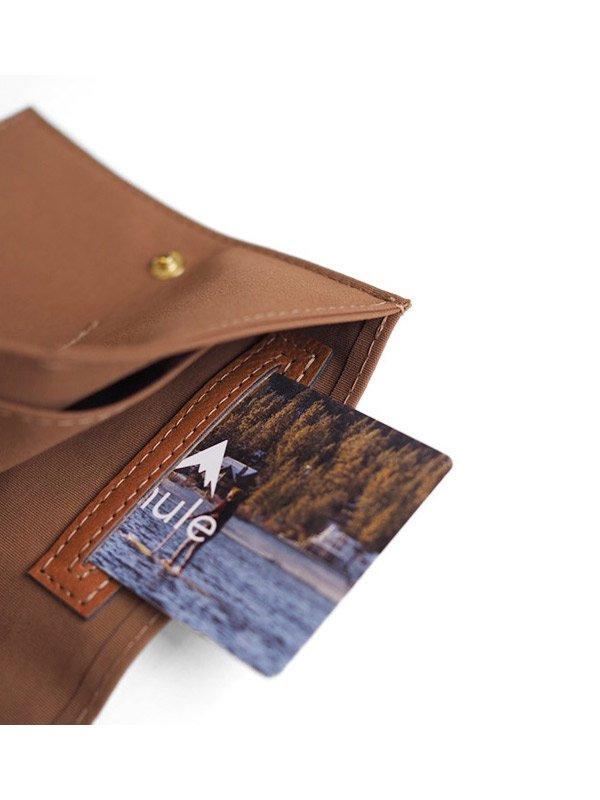 mule|Nylon Commuter Wallet #Brown