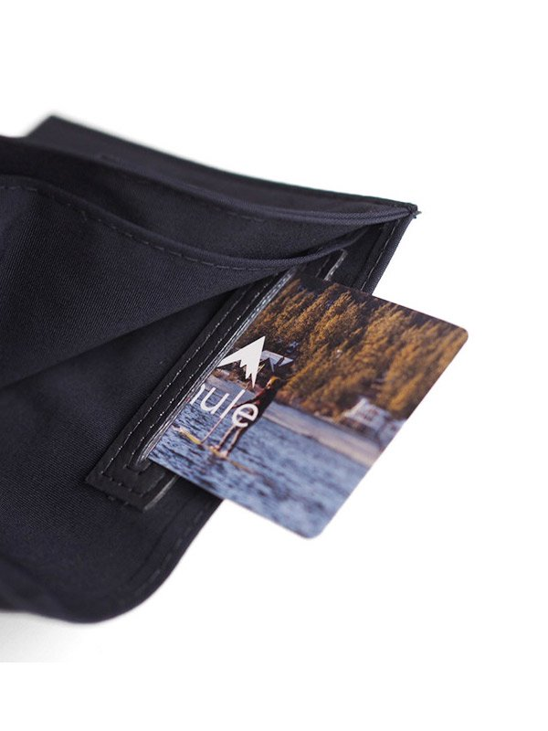 mule|Nylon Commuter Wallet #Black