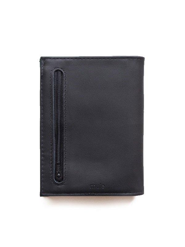 mule|Leather Commuter Wallet #Black