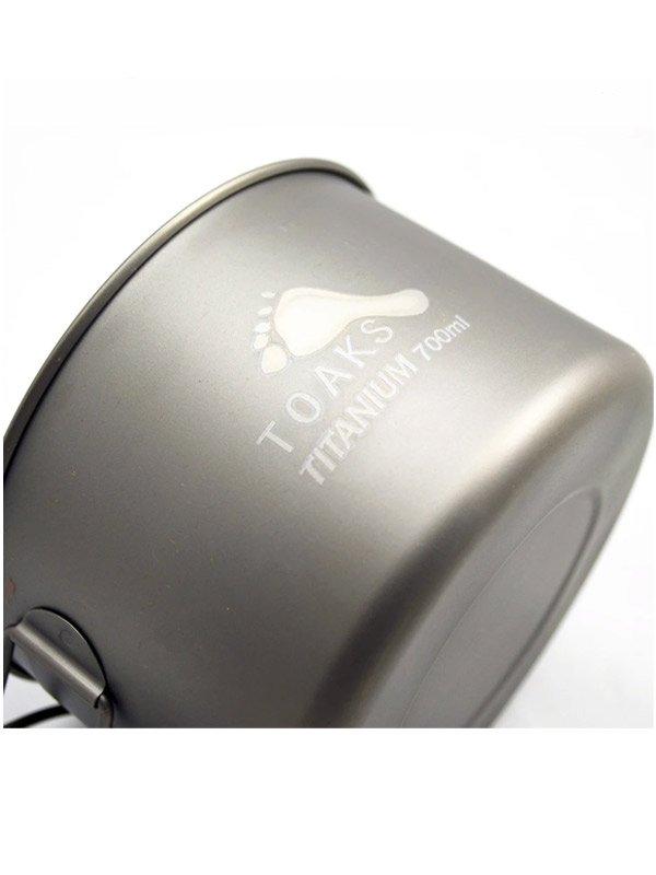 Light Titanium 700ml Pot [POT-700-D115-L]