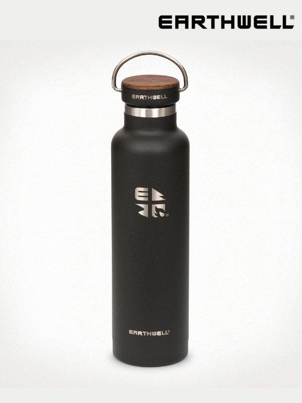 22oz Woodie Walnut Bottle #Volcanic Black [VB22-W10W10]