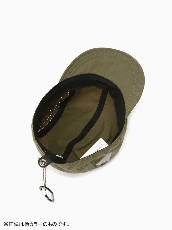 laser hole nylon taffeta cap #Black [5740186010]