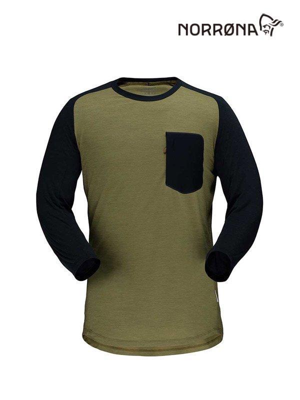 skibotn wool 3/4 T-shirt #Olive Drab [4202-20]